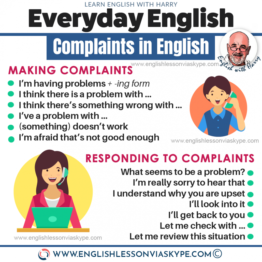 English Speaking: How to make complaints in English? Useful phrases for making complaints ESL at www.englishlessonviaskype.com #learnenglish #englishlessons #tienganh #EnglishTeacher #vocabulary #ingles #อังกฤษ #английский #aprenderingles #english #cursodeingles #учианглийский #vocabulário #dicasdeingles #learningenglish #ingilizce #englishgrammar #englishvocabulary #ielts #idiomas