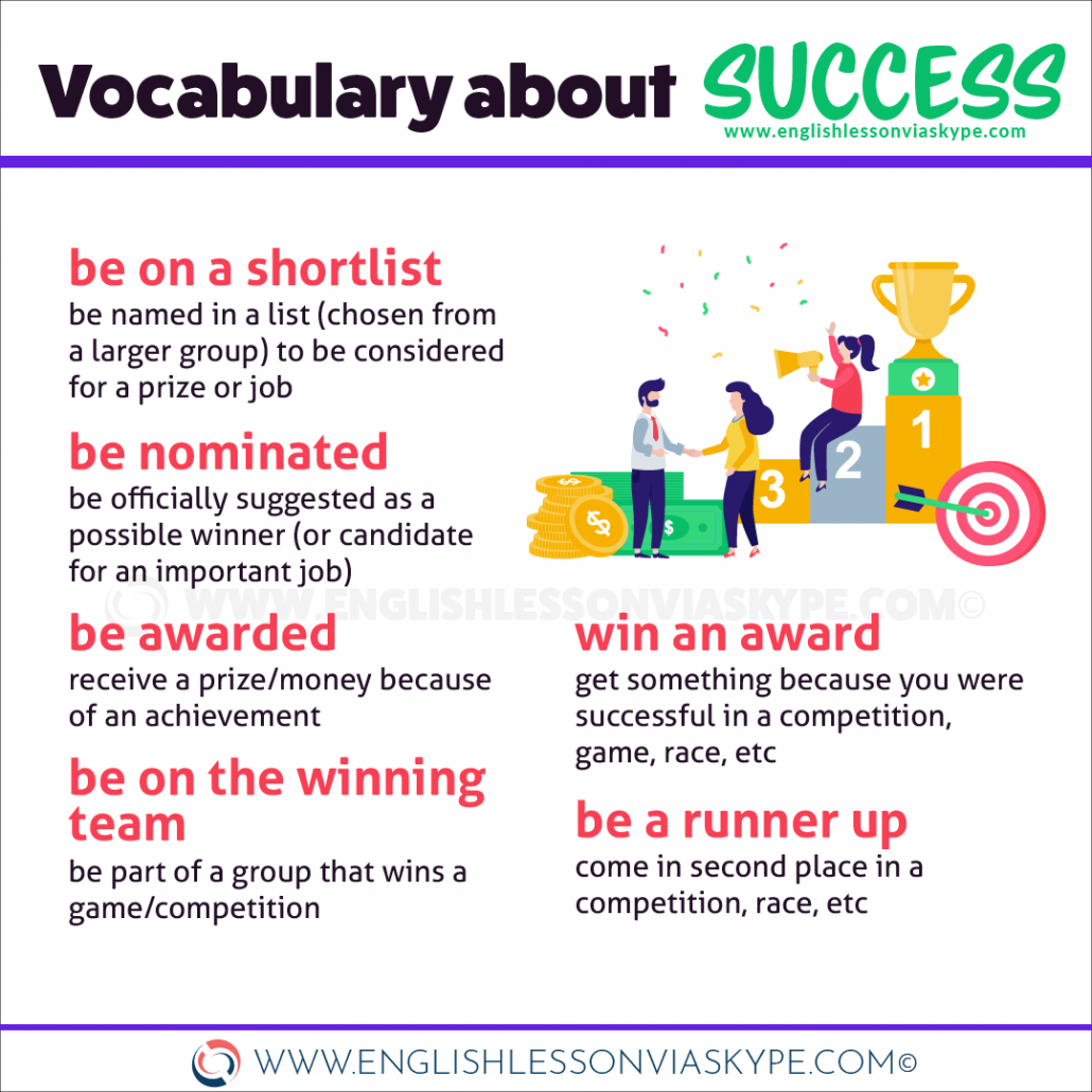 10 English Expressions to talk about success in English. Improve English vocabulary at www.englishlessonviaskype.com #learnenglish #englishlessons #tienganh #EnglishTeacher #vocabulary #ingles #อังกฤษ #английский #aprenderingles #english #cursodeingles #учианглийский #vocabulário #dicasdeingles #learningenglish #ingilizce #englishgrammar #englishvocabulary #ielts #idiomas