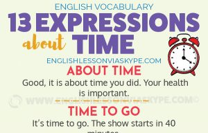 13 English Expressions about TIME