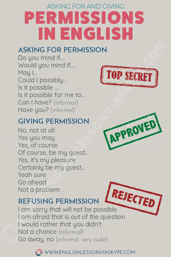 How to ask for and give permission in English? Asking and giving permission in English. www.englishlessonviaskype.com #learnenglish #englishlessons #tienganh #EnglishTeacher #vocabulary #ingles #อังกฤษ #английский #aprenderingles #english #cursodeingles #учианглийский #vocabulário #dicasdeingles #learningenglish #ingilizce #englishgrammar #englishvocabulary #ielts #idiomas