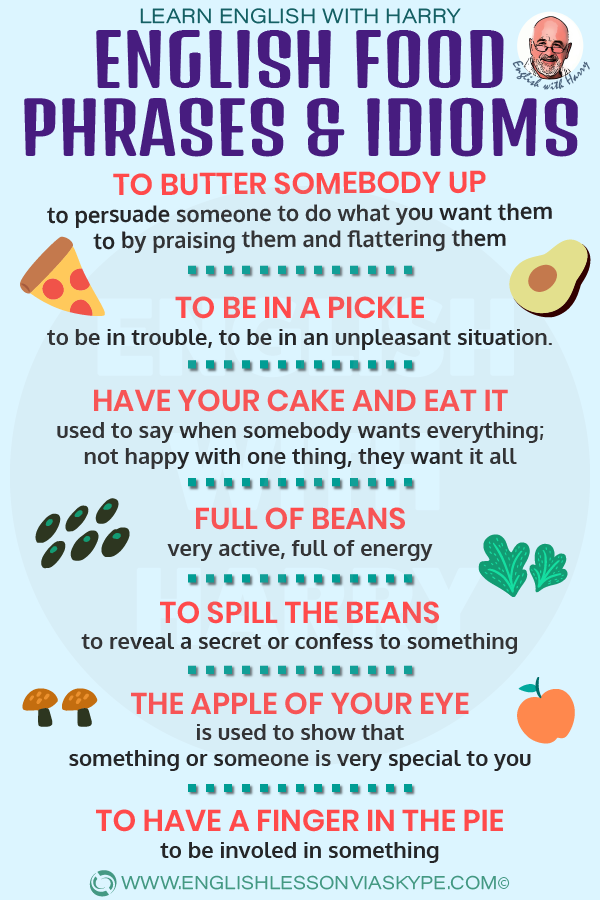English food phrases and idioms. As easy as pie. Spill the beans meaning. Improve from intermediate to advanced English with www.englishlessonviaskype.com #learnenglish #englishlessons #EnglishTeacher #vocabulary #ingles #английский #aprenderingles #english #cursodeingles #учианглийский #vocabulário #dicasdeingles #learningenglish #ingilizce #englishgrammar #englishvocabulary #ielts #idiomas