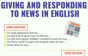 Ways to Give News in English