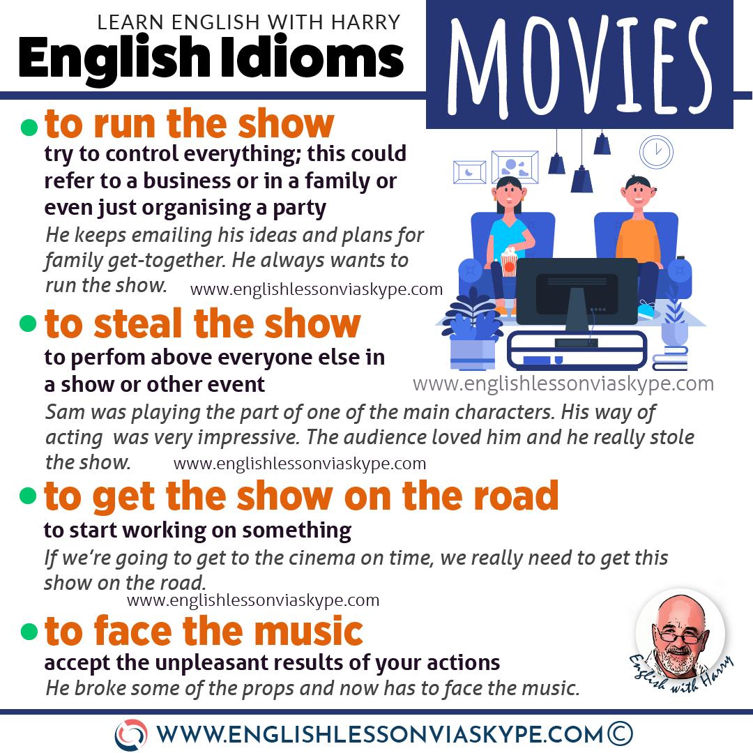 English idioms for describing movies + English vocabulary related to movies. Intermediate to advanced English with www.englishlessonviaskype.com #learnenglish #englishlessons #EnglishTeacher #vocabulary #ingles #อังกฤษ #английский #aprenderingles #english #cursodeingles #учианглийский #vocabulário #dicasdeingles #learningenglish #ingilizce #englishgrammar #englishvocabulary #ielts #idiomas