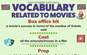 English Vocabulary related to Movies
