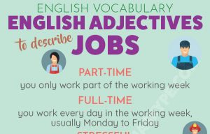 10 English Adjectives to Describe Jobs