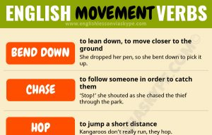 21 English Verbs connected to Movement