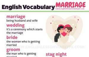 English Vocabulary related to Marriage