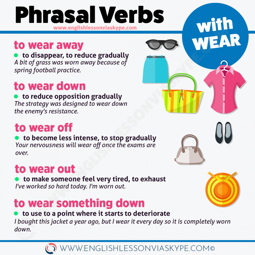 6 Phrasal verbs with Wear. Phrasal verbs for FCE. Learn English with Harry at www.englishlessonviaskype.com #learnenglish #englishlessons #tienganh #EnglishTeacher #vocabulary #ingles #อังกฤษ #английский #aprenderingles #english #cursodeingles #учианглийский #vocabulário #dicasdeingles #learningenglish #ingilizce #englishgrammar #englishvocabulary #ielts #idiomas