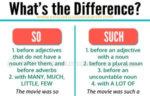 Difference between SO and SUCH