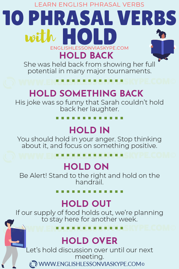 10 Phrasal Verbs with Hold with meanings and examples. Learn English with Harry at www.englishlessonviaskype.com #learnenglish #englishlessons #tienganh #EnglishTeacher #vocabulary #ingles #อังกฤษ #английский #aprenderingles #english #cursodeingles #учианглийский #vocabulário #dicasdeingles #learningenglish #ingilizce #englishgrammar #englishvocabulary #ielts #idiomas