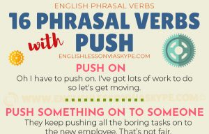 Phrasal Verbs with Push with meanings and examples. #learnenglish