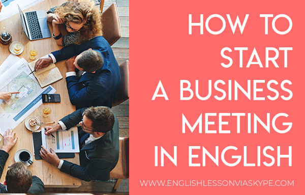 How to start a business meeting in English #learnenglish #englishlessons #aprenderingles