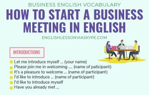 How to Start a Business Meeting in English