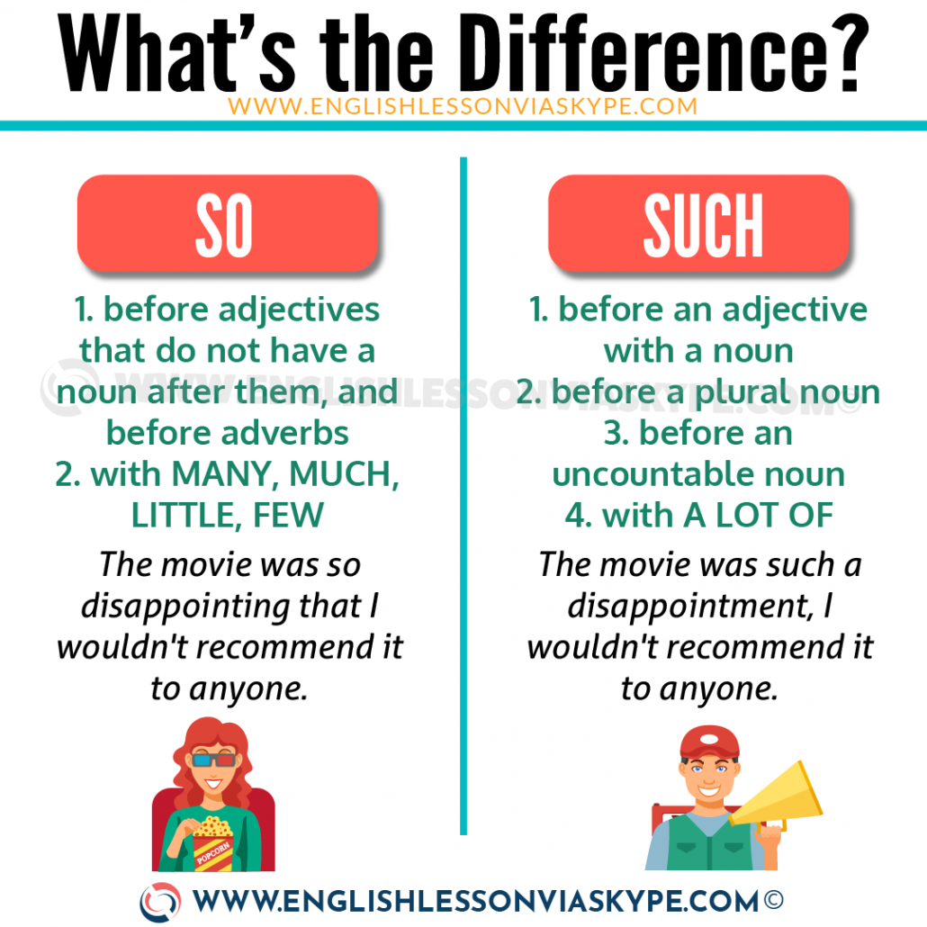 SO vs SUCH. Difference between So and Such. Such an amazing view. So boring. www.englishlessonviaskype.com #learnenglish #englishlessons #tienganh #EnglishTeacher #vocabulary #ingles #อังกฤษ #английский #aprenderingles #english #cursodeingles #учианглийский #vocabulário #dicasdeingles #learningenglish #ingilizce #englishgrammar #englishvocabulary #ielts #idiomas