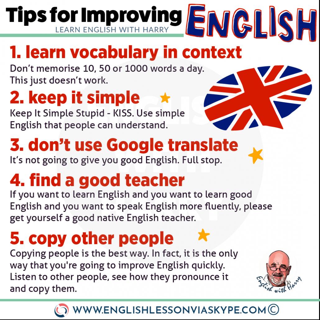 10 Real Tips for Improving English - Do this to improve your English www.englishlessonviaskype.com #learnenglish #englishlessons #tienganh #EnglishTeacher #vocabulary #ingles #อังกฤษ #английский #aprenderingles #english #cursodeingles #учианглийский #vocabulário #dicasdeingles #learningenglish #ingilizce #englishgrammar #englishvocabulary #ielts #idiomas