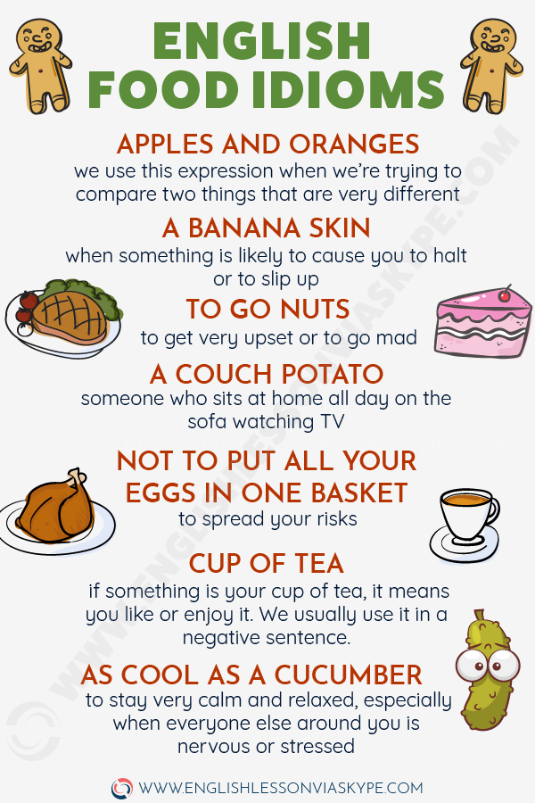 English Food Idioms. As cool as a cucumber meaning. Learn English with Harry at www.englishlessonviaskype.com #learnenglish #englishlessons #tienganh #EnglishTeacher #vocabulary #ingles #อังกฤษ #английский #aprenderingles #english #cursodeingles #учианглийский #vocabulário #dicasdeingles #learningenglish #ingilizce #englishgrammar #englishvocabulary #ielts #idiomas