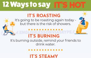 12 Other Ways to Say I'm Hot in English #learnenglish