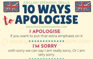 10 Better Ways to Apologise in English