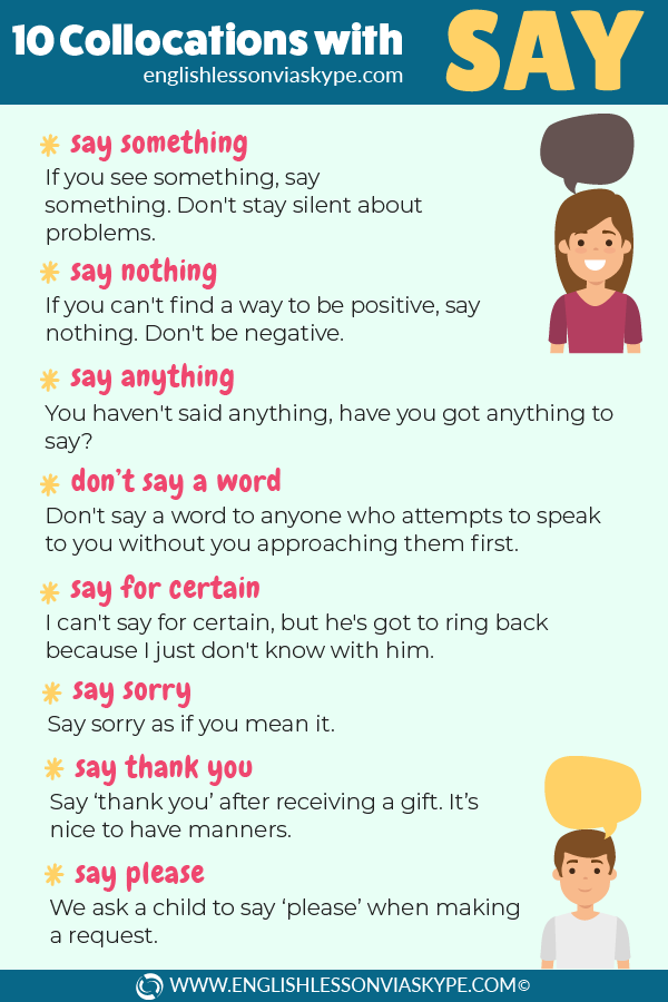 10 English collocations with Say. Learn English with Harry at www.englishlessonviaskype.com #learnenglish #englishlessons #tienganh #EnglishTeacher #vocabulary #ingles #อังกฤษ #английский #aprenderingles #english #cursodeingles #учианглийский #vocabulário #dicasdeingles #learningenglish #ingilizce #englishgrammar #englishvocabulary #ielts #idiomas