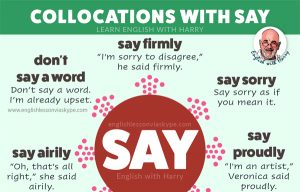 10 English Collocations with Say