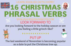 16 Christmas Phrasal Verbs