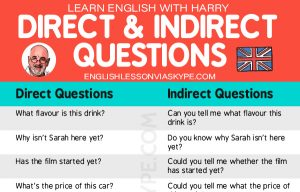 How to ask indirect questions in English?