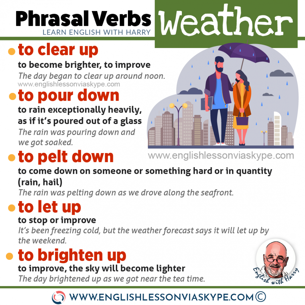 PHRASAL VERBS: 10 Phrasal verbs connected to weather. To die out meaning. To blow over meaning. Improve English speaking at www.englishlessonviaskype.com #learnenglish #englishlessons #tienganh #EnglishTeacher #vocabulary #ingles #อังกฤษ #английский #aprenderingles #english #cursodeingles #учианглийский #vocabulário #dicasdeingles #learningenglish #ingilizce #englishgrammar #englishvocabulary #ielts #idiomas