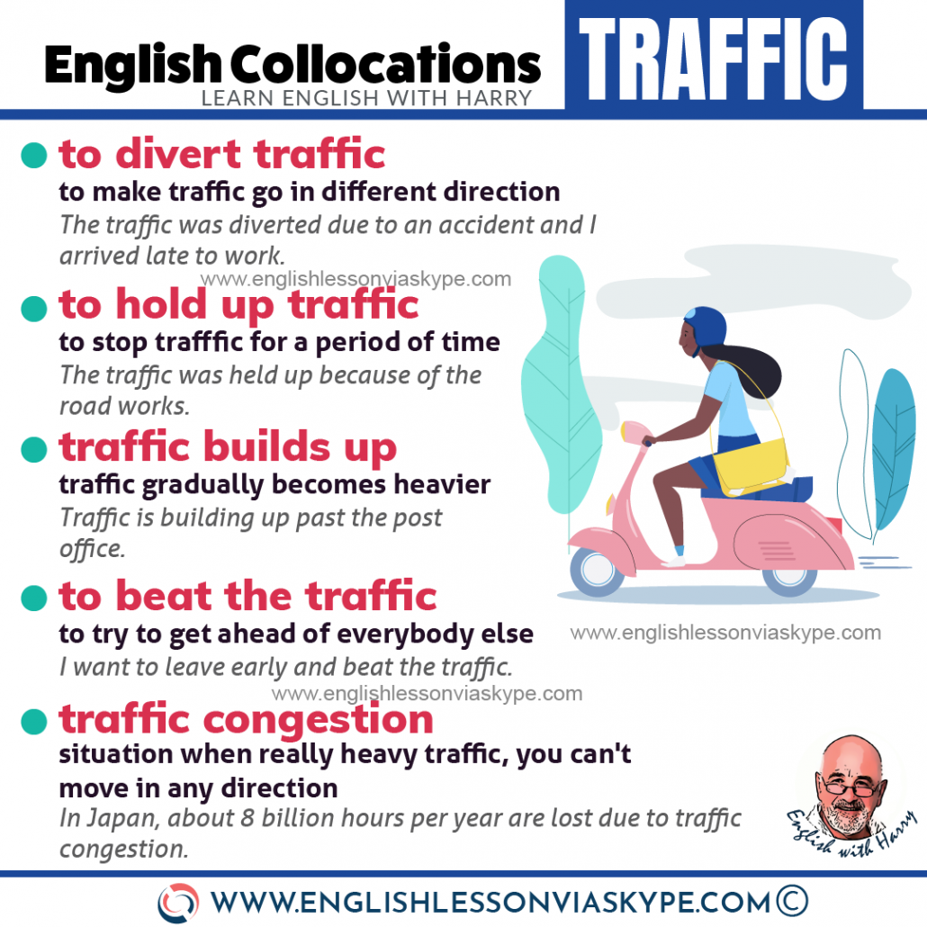 15 English collocations connected with traffic. Here you will improve your English speaking skills. www.englishlessonviaskype.com #learnenglish #englishlessons #EnglishTeacher #vocabulary #ingles #อังกฤษ #английский #aprenderingles #english #cursodeingles #учианглийский #vocabulário #dicasdeingles #learningenglish #ingilizce #englishgrammar #englishvocabulary #ielts #idiomas