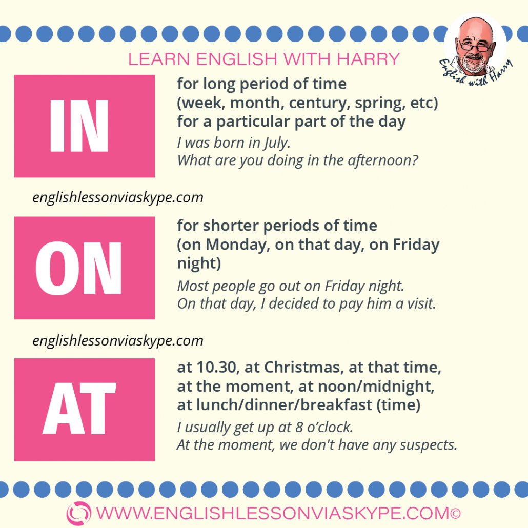 English grammar - How to use IN ON AT. I explain the rules as simply as possible. English with Harry www.englishlessonviaskype.com #learnenglish #englishlessons #tienganh #EnglishTeacher #vocabulary #ingles #อังกฤษ #английский #aprenderingles #english #cursodeingles #учианглийский #vocabulário #dicasdeingles #learningenglish #ingilizce #englishgrammar #englishvocabulary #ielts #idiomas