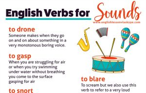 Englsh verbs expressing sounds. Intermediate level English. #learnenglish