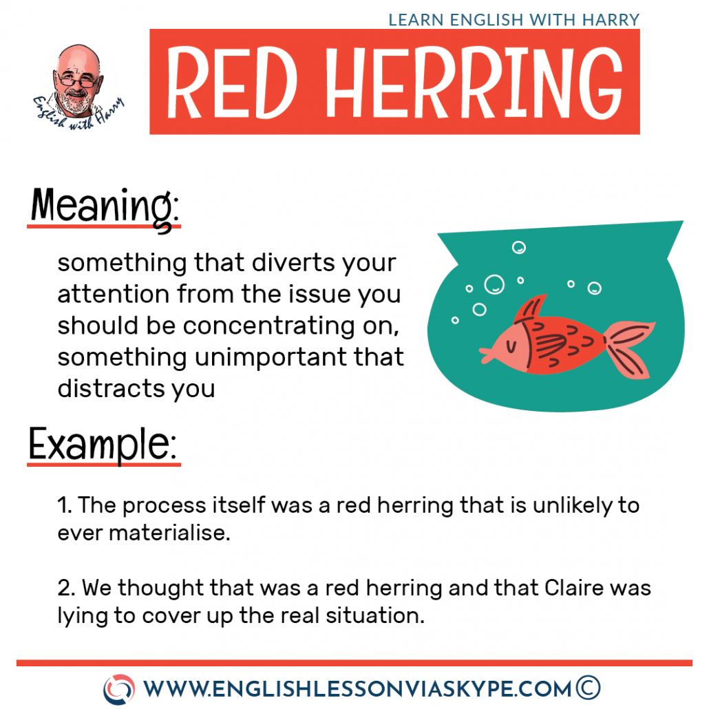 Red herring meaning in English. 18 Colour idioms in English. Tickled pink meaning. White elephant meaning. From intermediate to advanced English with www.englishlessonviaskype.com #learnenglish #englishlessons #EnglishTeacher #vocabulary #ingles #อังกฤษ #английский #aprenderingles #english #cursodeingles #учианглийский #vocabulário #dicasdeingles #learningenglish #ingilizce #englishgrammar #englishvocabulary #ielts #idiomas