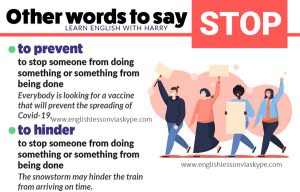 English vocabulary. Other ways to say stop in English. Improve English from intermediate to advanced with www.englishlessonviaskype.com #learnenglish #englishlessons #EnglishTeacher #vocabulary #ingles #английский #aprenderingles #english #englishidioms #learningenglish #esl #englishteacher
