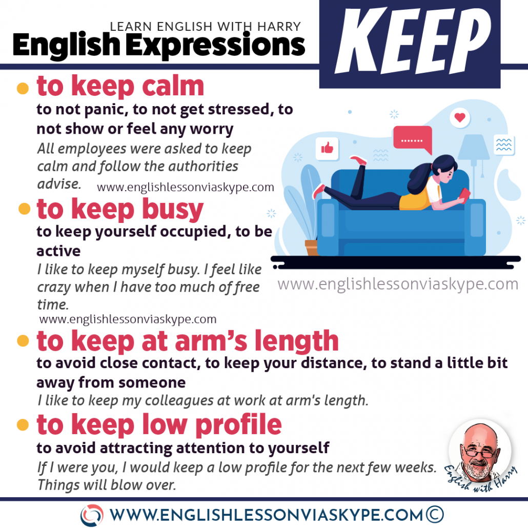 English vocabulary: 10 English expressions with keep. From intermediate to advanced English with www.englishlessonviaskype.com #learnenglish #englishlessons #EnglishTeacher #vocabulary #ingles #อังกฤษ #английский #aprenderingles #english #cursodeingles #учианглийский #vocabulário #dicasdeingles #learningenglish #ingilizce #englishgrammar #englishvocabulary #ielts #idiomas