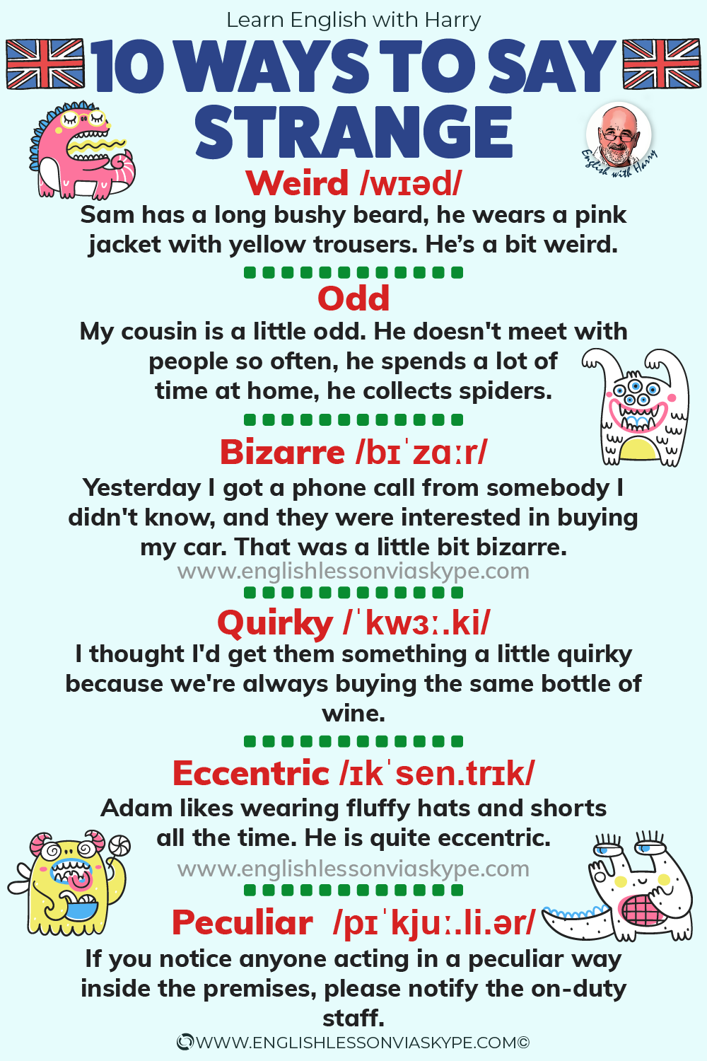 English vocabulary. 10 Ways to say strange in English. From intermediate to advanced English with www.englishlessonviaskype.com #learnenglish #englishlessons #EnglishTeacher #vocabulary #ingles #อังกฤษ #английский #aprenderingles #english #cursodeingles #учианглийский #vocabulário #dicasdeingles #learningenglish #ingilizce #englishgrammar #englishvocabulary #ielts #idiomas
