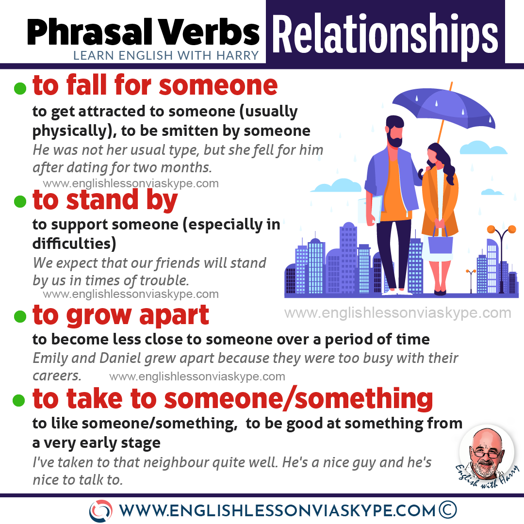 English phrasal verbs about relationships. Boost your vocabulary. Improve English from intermediate to advanced with www.englishlessonviaskype.com #learnenglish #englishlessons #EnglishTeacher #vocabulary #ingles #อังกฤษ #английский #aprenderingles #english #cursodeingles #учианглийский #vocabulário #dicasdeingles #learningenglish #ingilizce #englishgrammar #englishvocabulary #ielts #idiomas