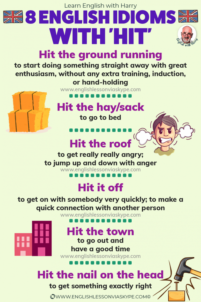 Learn English idioms with hit. Hit the ground running. Hit the nail on the head. Advanced English with www.englishlessonviaskype.com #learnenglish #englishlessons #EnglishTeacher #vocabulary #ingles #อังกฤษ #английский #aprenderingles #english #cursodeingles #учианглийский #vocabulário #dicasdeingles #learningenglish #ingilizce #englishgrammar #englishvocabulary #ielts #idiomas