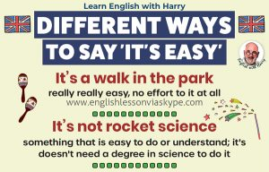 Advanced English learning. Ways to say easy in English. Study advanced English at www.englishlessonviaskype.com