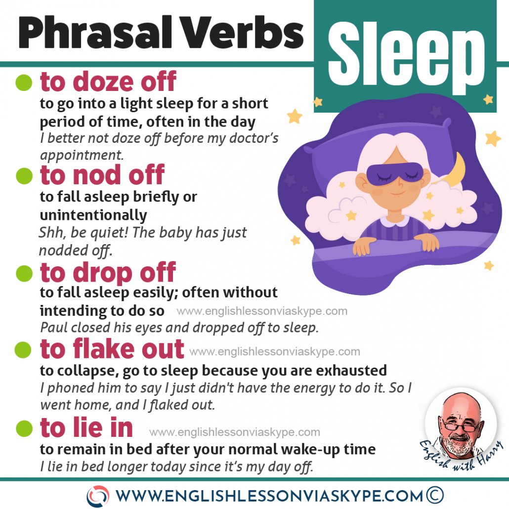 Phrasal verbs connected with sleep. Difference between drop off and doze off. Advanced English lessons on Zoom and Skype at www.englishlessonviaskype.com #learnenglish #ingles