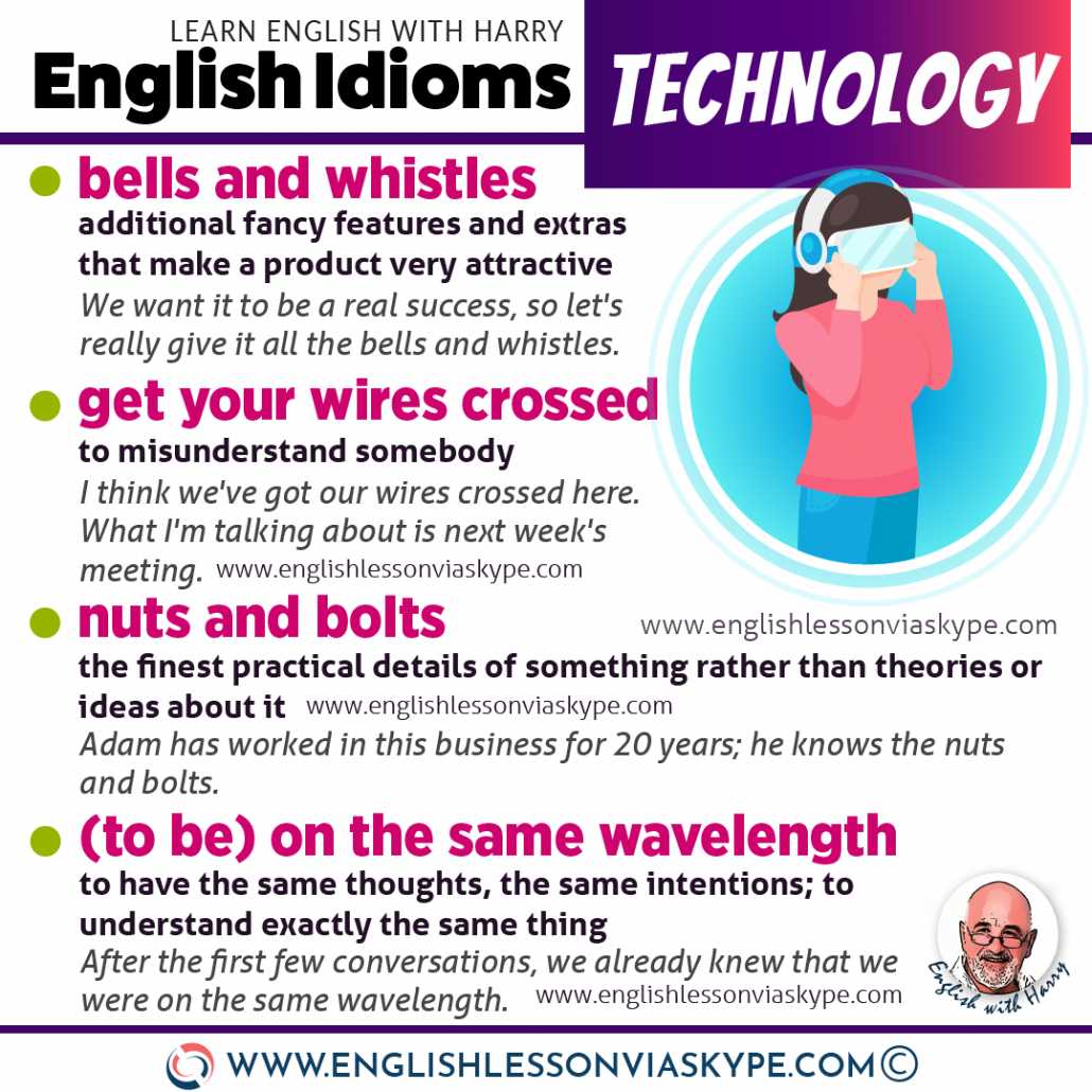 Learn English idioms related to technology. Advanced English learning. Study advanced English and speak like a native www.englishlessonviaskype.com #learnenglish