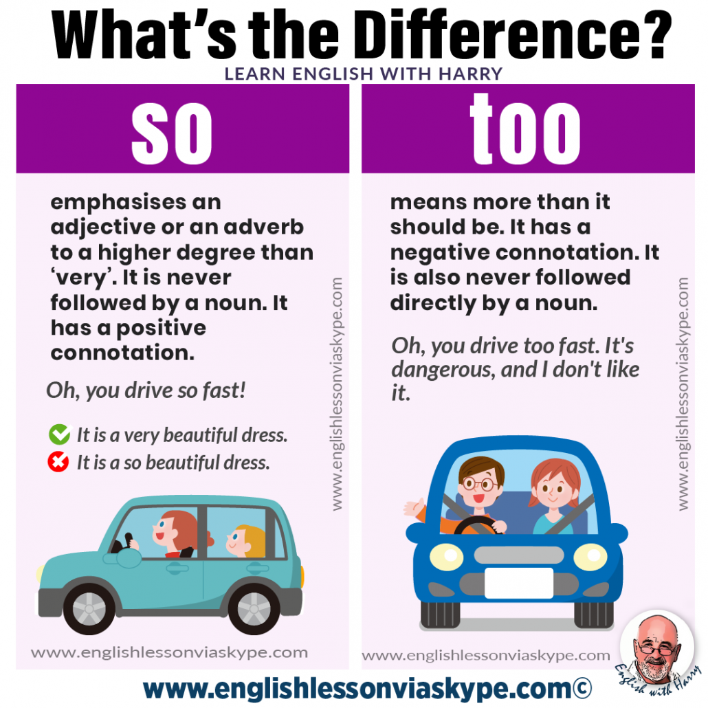 What is the difference between so and too? Advanced English learning. Online English lessons on Zoom. Study advanced English at www.englishlessonviaskype.com