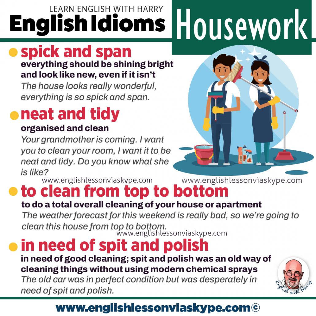 Vocabulary expressions related to housework. Study English advanced level. English lessons on Zoom and Skype www.englishlessonviaskype.com #learnenglish #englishlessons #EnglishTeacher #vocabulary #ingles #อังกฤษ #английский #aprenderingles #english