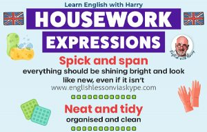 Read more about the article Vocabulary Expressions Related To Housework