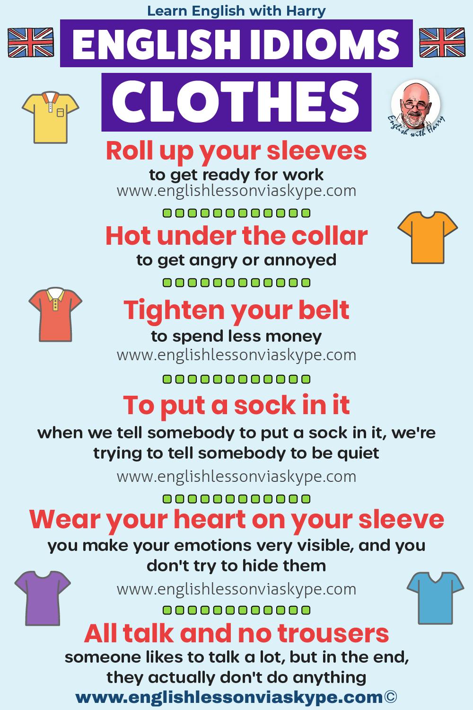 English idioms with clothes. Study English advanced level. English lessons on Zoom and Skype www.englishlessonviaskype.com #learnenglish #englishlessons #EnglishTeacher #vocabulary #ingles #อังกฤษ #английский #aprenderingles #english