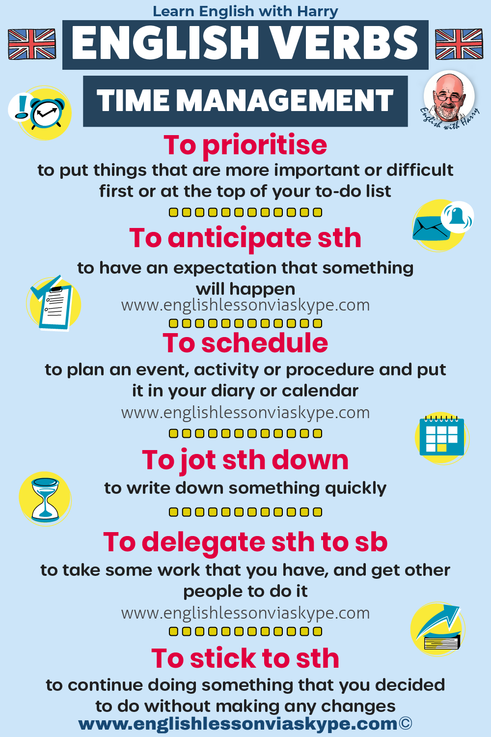 English verbs related to time management. Study English advanced level. English lessons on Zoom and Skype www.englishlessonviaskype.com #learnenglish #englishlessons #EnglishTeacher #vocabulary #ingles #อังกฤษ #английский #aprenderingles #english
