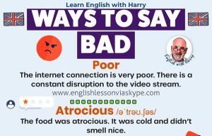 Read more about the article Ways To Say Bad In English
