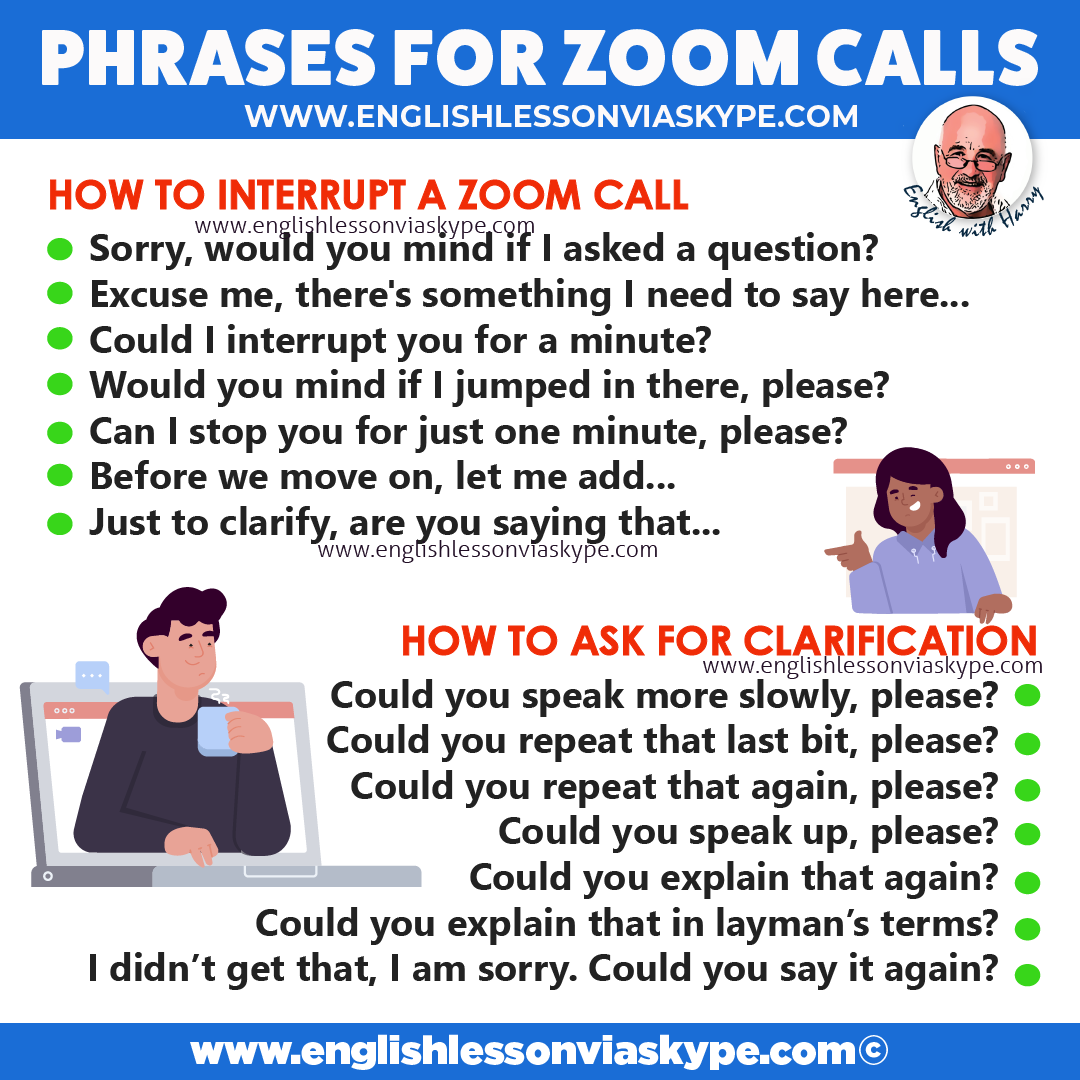 Conference call English vocabulary. Must have phrases for Zoom calls. Advanced English learning. Business English lessons at www.englishlessonviaskype.com #learnenglish #englishlessons