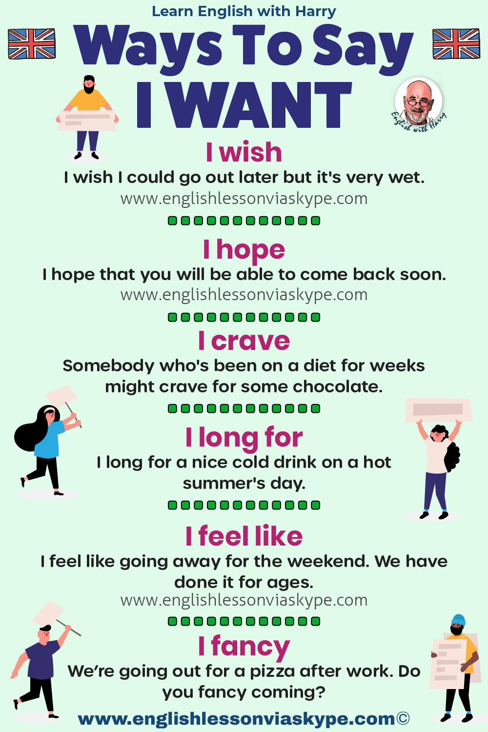 Ways to say I want in English. Advanced English learning. English lessons on Zoom at www.englishlessonviaskype.com #learnenglish #englishlessons #EnglishTeacher #vocabulary #ingles