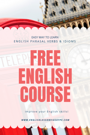 Phrasal Verbs English and English Idioms. Free Online Course for intermediate level English learners. Improve English speaking skills. #learnenglish #englishlessons #englishteacher #ingles #aprenderingles #englishidioms